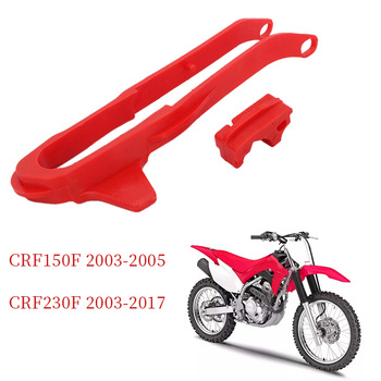 Motorcycle Sprocket Chain Guide Glue Guard and Lower Chain Slider for HONDA CRF150F 2003-2005 CRF230F 2003-2017