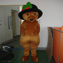 Bear cartoon costume, adult size mascot ball