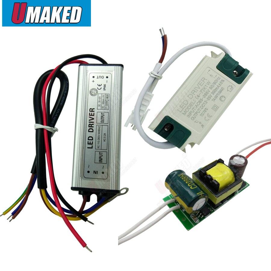 LED Driver Constant Current Lamp Power Supply 300mA  1W 3W 5W 7W 9W 10W 20W 30W 36W 50W Isolation Lighting Transformer