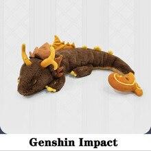 Rock rei zhong li jogo cosplay genshin impacto boneca anime projeto macio travesseiro brinquedo de pelúcia crianças presente dia das bruxas natal dragão