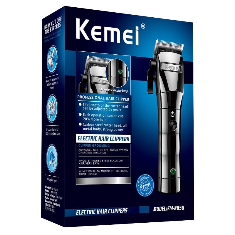 Kemei tondeuse à cheveux électrique sans fil tête d'huile tondeuse à cheveux tondeuse à cheveux Machine de découpe barbe rasoir outil de coiffage KM-2850 - 6