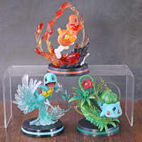 Anime Monster Center Charmander Bulbasaur Squirtle Fighting Ver. PVC Figure Model Toy Figurine Birthday Gift