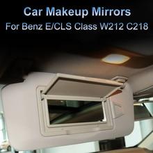 New Car Interior Sun Shade Visor Makeup Cosmetic Mirror Cover For Mercedes Benz E/CLS Class W212 C218 E200 E260 E300 Left Right
