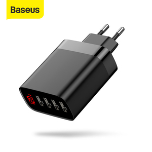 Image 1 - Baseus 4 Ports USB Charger 30W 5V/6A Max Phone Charger with Digital Display Portable Charger For Phone