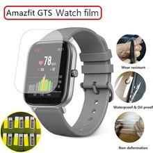 Прозрачная защитная пленка для часов, 2 шт. для Xiaomi Huami Amazfit Bip GTS GTR 42/47 Pace, мягкая защитная пленка из ТПУ на весь экран