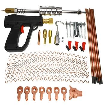 Gold Sheet Set | 86 Pcs Car Body Repair Tools Dent Puller Kit Spot Welding Spotter Welder Gun Removing Straightenging Dents Remover Device Set