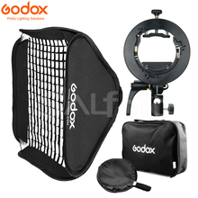 Godox s2 스피드 라이트 브래킷 허니 콤 그리드 소프트 박스 s 형 보우 인 플래시 홀더 마운트 fr godox v1 v860ii ad200 ad400pro tt600 tt685