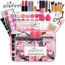 Professional Makeup Set Makeup Artist Portable Cosmetic Bag Make Up Gift Box Eyeshadow Blushes Powder Lipstick Cosmetics Kit