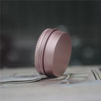 wholesale 15g Rose Gold Aluminum Cream Tin Jar Metal Cream Containers Lip Balm Container Empty Jars Cream Pot Box Makeup Bottle