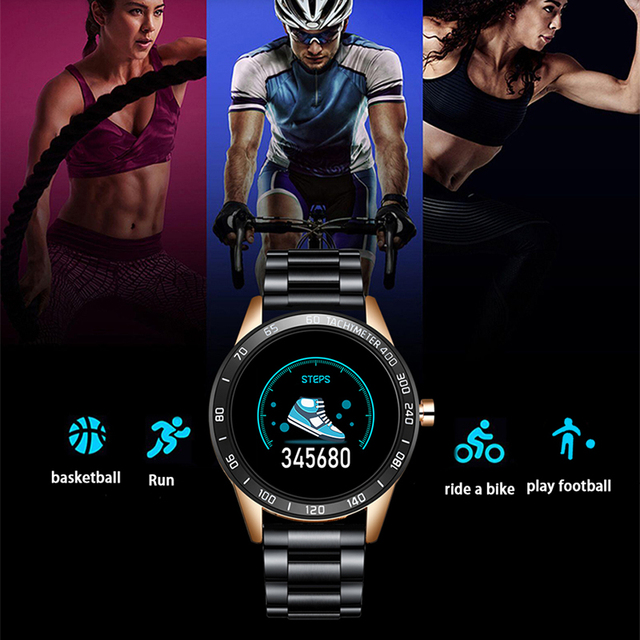 Smart Watch Men IP67 Waterproof Fitness Tracker Heart Rate Blood Pressure Monitor Pedometer for Android ios Sports smartwatch 6