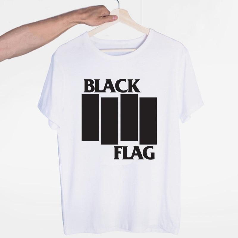 Men's Black Flag Punk Rock Band Henry Rollins T-shirt O-Neck Short Sleeves Summer Casual Fashion Unisex Men And Women Tshirt