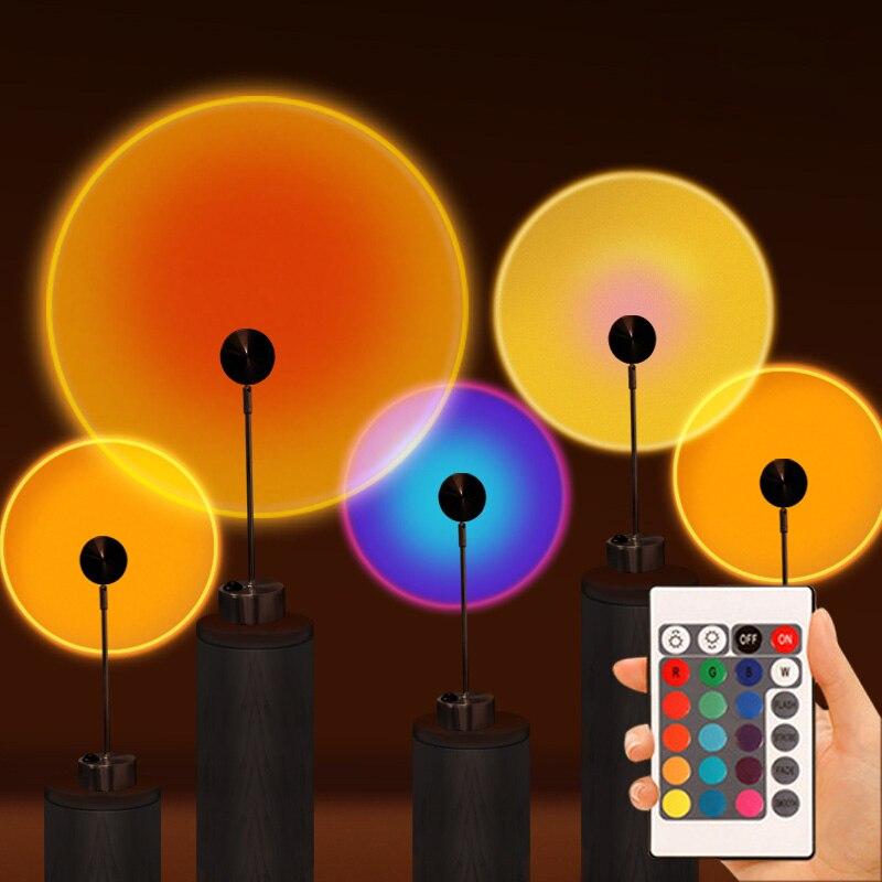 Светодиодный закат лампа проекция ночной Светильник для детей и взрослых светильник Декор