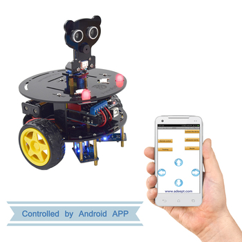 Adeept 3WD Bluetooth Smart Robot Car Kit Stem Arduino Starter Learning Kit for Arduino UNO R3 (with Development Board) frearduino leonardo r3 for arduino works with official arduino boards page 7