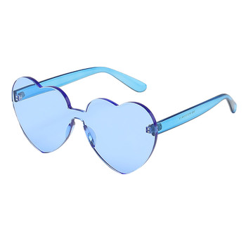 top selling product Heart Shaped Rimless Sunglasses Transparent Candy Color Frameless Glasses Suppor