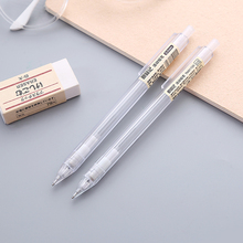 0.5/0.7mm 2B Plastic Mechanical Pencil Drawing writing Transparent Automatic Pencils Office school supplies propelling pencil