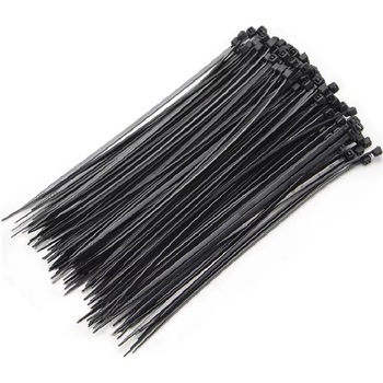 100pcs 3x150 3x80 3x100 Self-Locking Plastic Nylon Wire Cable Zip Ties Black Cable Ties Fasten Loop Cable Various specifications 100pcs white self locking cable tie high quality nylon fasten zip wire wrap strap 2 5x100mm 2 5x150mm plastic
