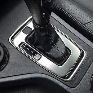 Image 1 - עבור מאזדה bt50 2012 2019 נירוסטה LHD רכב קדמי התיכון פנים הילוכים כיסוי לקצץ מדבקת פנל אבזרים 1pcs