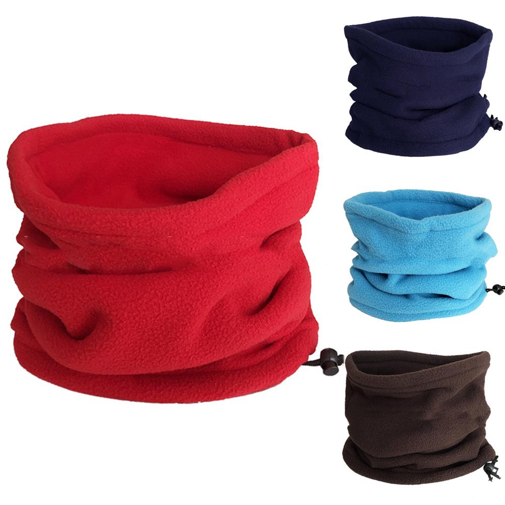 2020 Fleece Neck Warmer Gaiter Cover Hat Unisex Winter Outdoor Solid Color Soft Thick