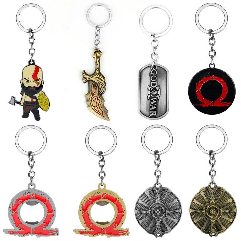 Jeu God of War Kratos arme lames du chaos en Alliage Porte-Clés Keychain Keyring