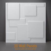 30x30cm 3D tile panel mold plaster wall 3D wall stickers living room wallpaper mural Waterproof 3D Wall sticker Bathroom Kitchen