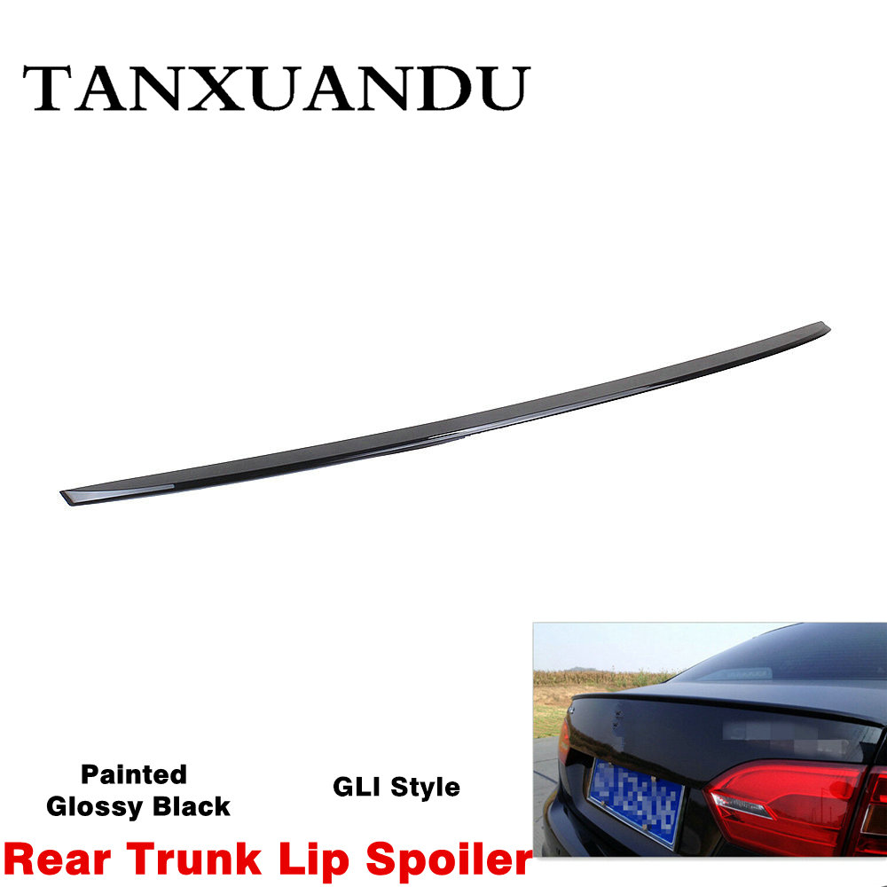 Painted Glossy Black White Dark Gray Rear Tail Trunk Lip Spoiler Wing Fit For VW GLI Jetta 2012-2018 Sedan MK6 MKIV OE-Style(China)