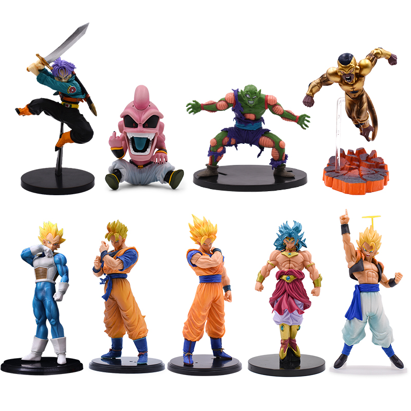 10 Style Dragon Ball Z Son Goku Gohan Vegeta Gogeta Broly Trunks Frieza Majin Buu Piccolo Action Figure Super Saiyan Model Toys