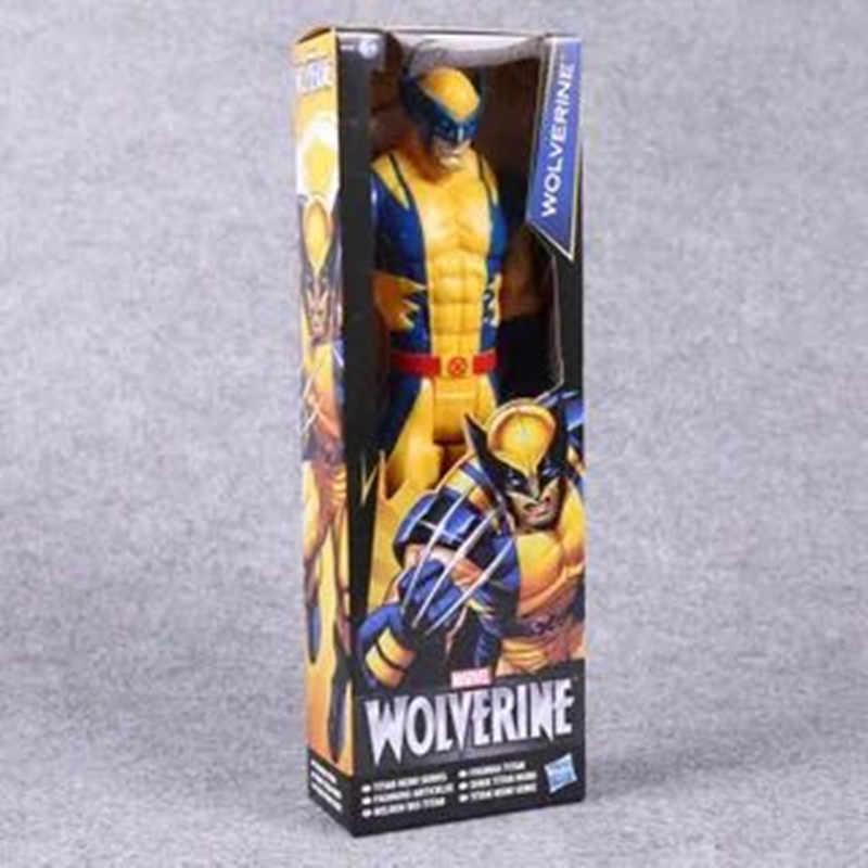 30Cm מארוול נוקם גיבור מלחמת אינסוף וולברין איש ברזל אמריקאי קפטן Thor פעולה איור Modell בובת ילדים