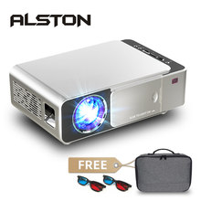 ALSTON T6 Mini led projector Support 4K 3D 3500 Lumens Android Wifi Bluetooth Portable Cinema Beamer For Smartphone with Gift
