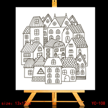 ZhuoAng Creative house Clear Stamps/Card Making Holiday decorations For  scrapbooking Transparent stamps 13*13cm