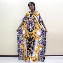 2019 Newest Design African Dashiki Dress Jewelry Pattern Print Yellow Dresses For Women