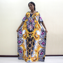 2019 neueste Design African Dashiki Kleid Schmuck Muster Druck Gelb Kleider Für Frauen