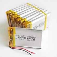 Groothandel 10 Stuks 3.7V 900Mah Lithium Polymer Lipo Oplaadbare Batterij Voor Mp3 Gps Ebooks Power Bank Camera Ehao 603048