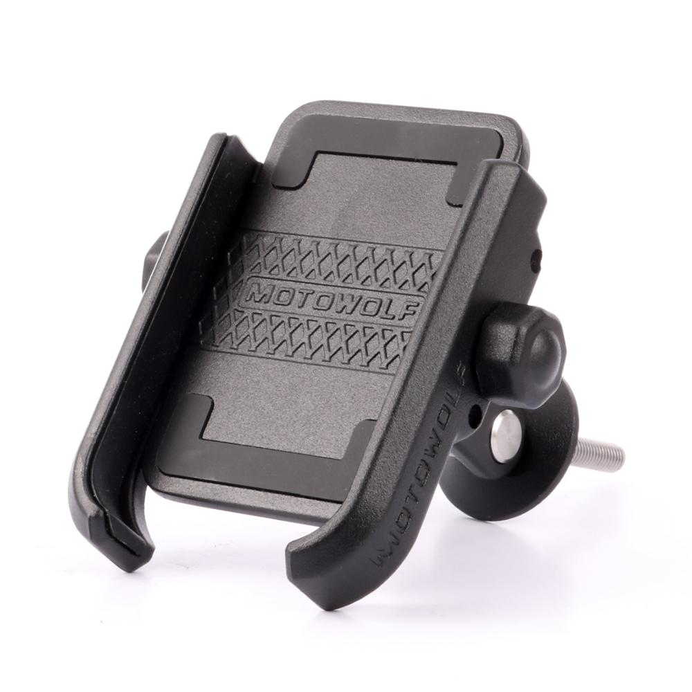 Bicycle Screw Fixed Phone Holder Mount 360 Horizontal Rotation Aluminum Alloy Bike Cilp for 4