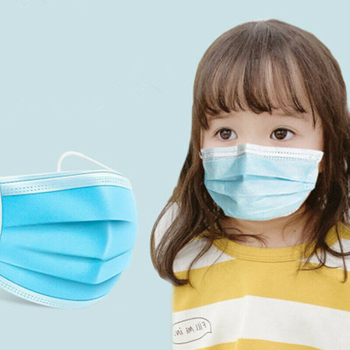 50PCS Disposable Face Mouth Mask For Kids Soft Breathable 3 Layers Anti-Dust Respirator Elastic Earloop Mask For Childres TSLM1 2