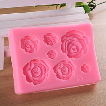 1pc Rose Flowers Shaped Silicone Mold DIY Craft Chocolate Baking Cake Decorating Tools Fondant Pastry Tool