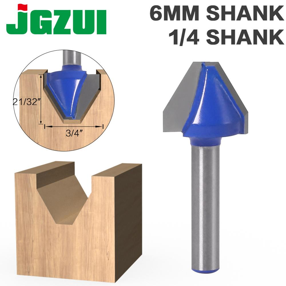 1Pc 60 Degree  1/4″ Shank 6MM SHANK  Woodworking Tenon Milling Cutter Tool Drilling Milling For Wood Carbide Alloy