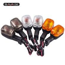 For KAWASAKI Z250 13-15, Z1000SX 11-14, ER-6N/F 09-14  Amber Motorcycle Rear Turn Signal Indicator Light Blinker