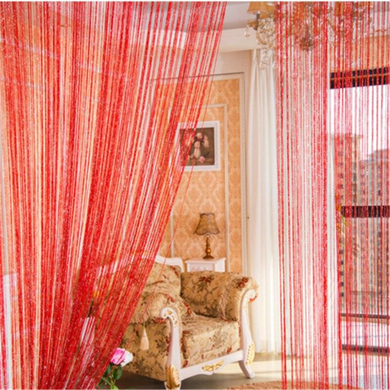 Gift String Door Curtain Beads Room Divider Crystal Tassel Fringe Beaded Window