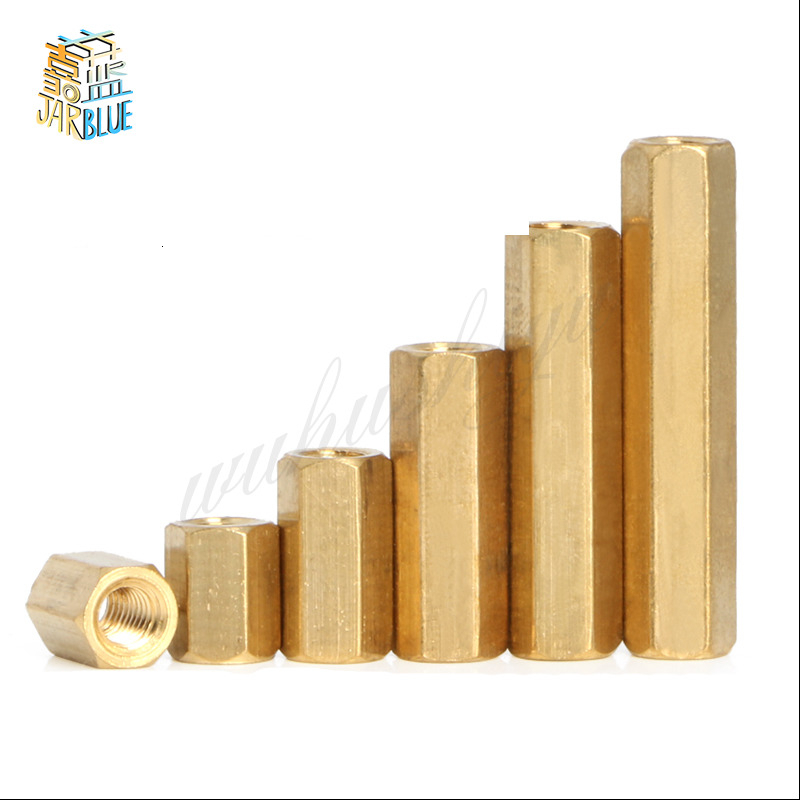 5-50pcs Hex Female to Female M2 M2.5 M3 <font><b>M4</b></font> M5 <font><b>brass</b></font> <font><b>standoff</b></font> spacer Hexagonal Stud Spacer Hollow Pillars image