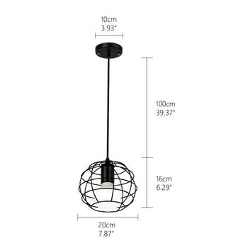 Retro loft industrial iron hanging lights E27 110V 220V LED black pendant lamps for kitchen living room bedroom aisle restaurant 2  Home H9cd59b9f4ab34eb5a52fa45cd8571459g