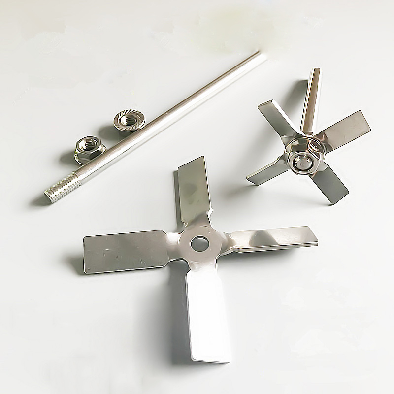 Laboratory 304 Stainless Steel Stir Bar Four-bladed Paddle Stir Bar Four Blade Propeller For Lab Mixer