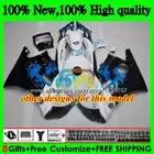 + Kits de tanque Para HONDA CBR600FS CBR600F3 1995 1996 97 98 3BS. 299 CBR600 F3 CBR 600 FS 600F3 Hot Cinza 95 96 1997 1998 Carenagem preta - 4