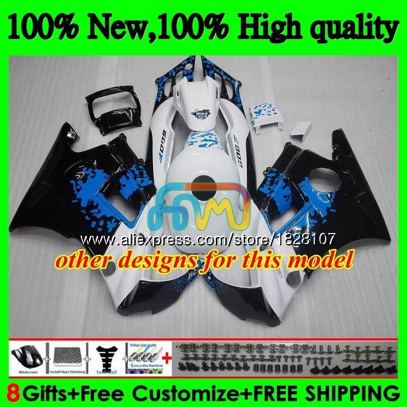Carenature + Serbatoio per Honda Cbr 600CC 600F3 Cbr 600 Fs Caldo Grigio Bianco 95 96 1995 1996 3BS. 20 CBR600 F3 CBR600F3 97 98 1997 1998 Kit - 4