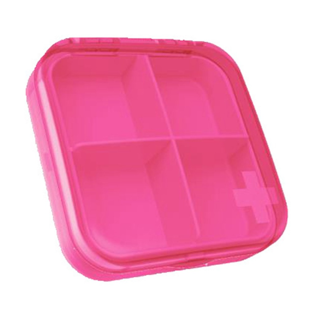 Creative Four-pack Plastic Small Pill Box Portable Portable Pill Box Pill Dust Medicine Storage Box Health Care Drop Shipping