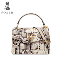 FOXER 2020 New Women leather bags fashion Serpentine tote bag luxury handbags women bags designer leather handbags