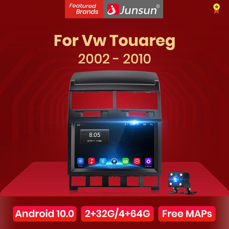 Автомагнитола Junsun V1 для Volkswagen Touareg, мультимедийный видеоплеер на Android 10,0, DSP, GPS, dvd, для Volkswagen Touareg 2002-2010, 2 din