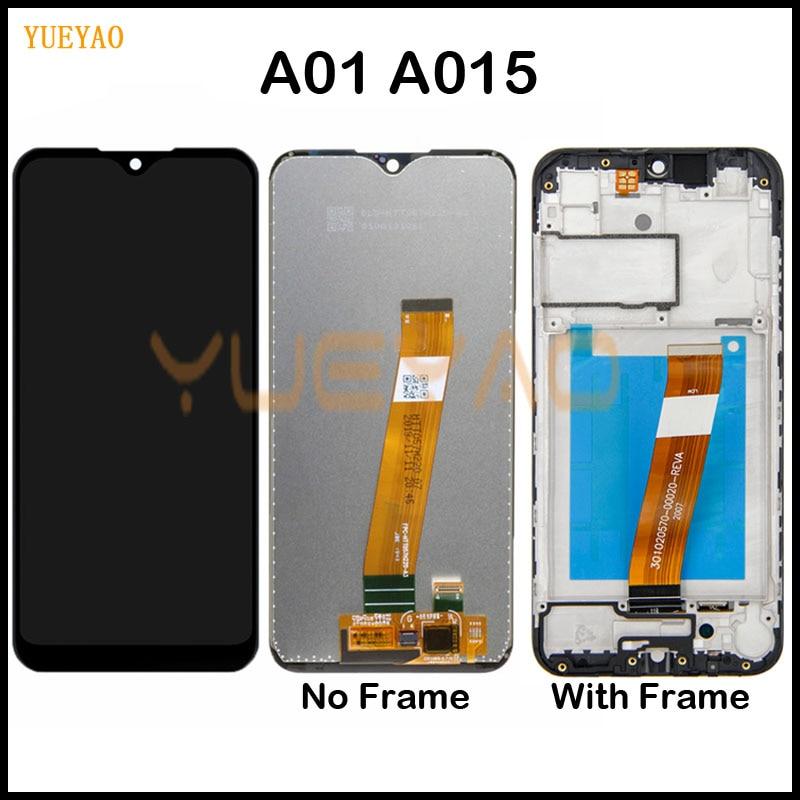 A015 ЖК-дисплей для Samsung Galaxy A01 ЖК-дисплей A015F A015G A015DS сенсорный экран дигитайзер сборка для Samsung A01 ЖК-дисплей с рамкой