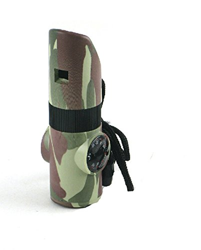 3PCS New Camouflage Seven-in-one Whistle Multi-function Outdoor Survival Whistle For Outdoor Camping Traveling Portable Survival