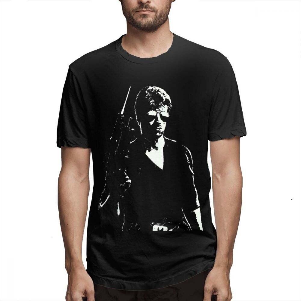 HKFZ Anime Man Rambo T Shirt Popular New Arrival  Homme Tee Shirt Geek Custom Pure Cotton For Boy T SHIRT