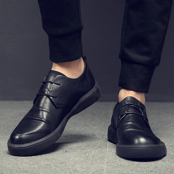 Male Genuine leather Shoes Adult NEW Men Sneakers Shoes Men Black Casual Shoes Fashion Leather